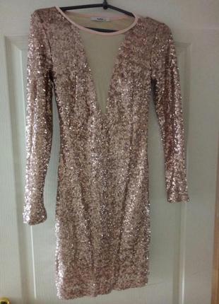Шикарное платье паейтки на выпускной или для особенного вечера