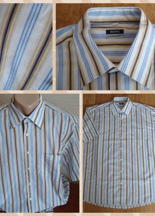 💫💫мужская рубашка короткий рукав в полоску basic concept 💫💫💫
