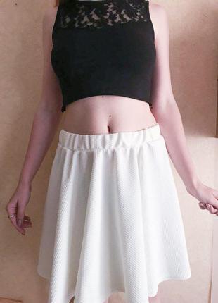 Белая юбка-солнце от boohoo