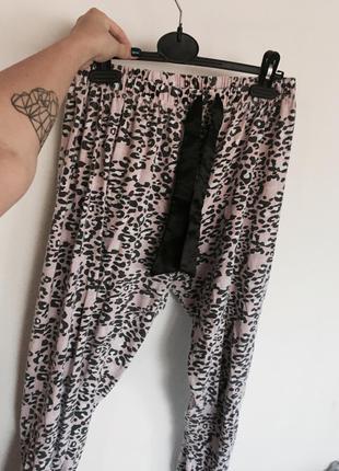 Домашние пижамные штаны розовый тигровый принт