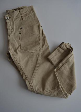 Бежевые джинсы брюки штаны бойфренды bershka 32размер