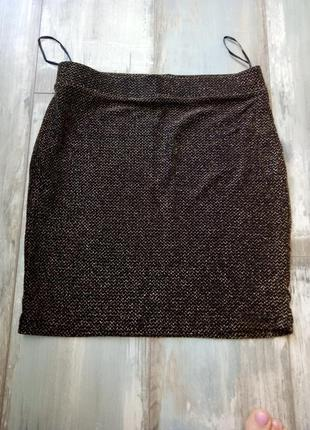 Праздничная люрексовая мини юбочка