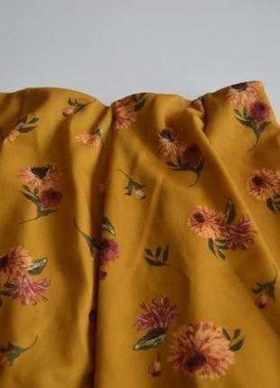 Юбка в цветы zara