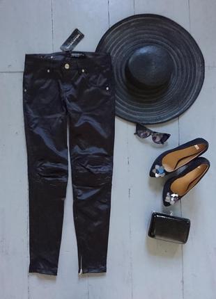 Актуальные сатиновые брюки скинни дудочки сигаретки №240