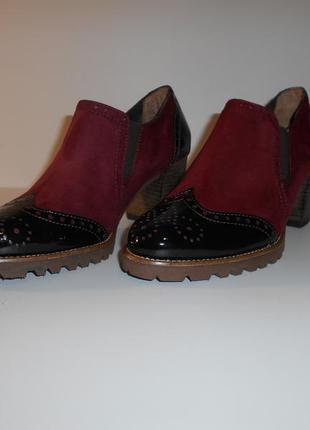 Туфли на широком каблуке от tamaris