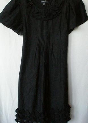 Нежное легкое черное платье warehouse