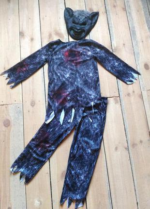 Карнавальный костюм оборотень волк на хэллоуин 11-12 лет