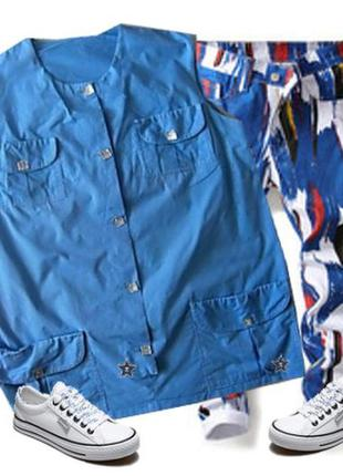 Блуза с карманами  размер  48-50