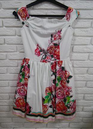 Платье белое в розы италия последнее окончательная цена