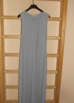 Платье в пол небесного цвета