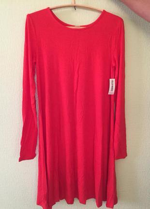 Платье красное old navy1 фото
