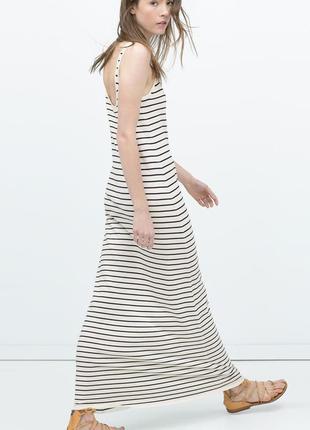 Купить длинное платье майку в полоску