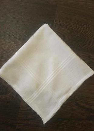 Винтажный батистовый носовой  платок /шов рауль