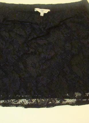 Мини юбка гипюровая new look