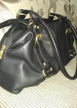 Объемная кожаная сумка - 100% натуральная мясистая кожа