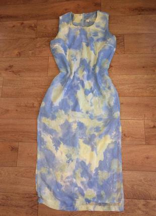 Шифоновое макси платье в пол летнее