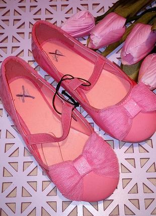 Нарядные лаковые туфли с бантиком, h&m, размеры 26, 29