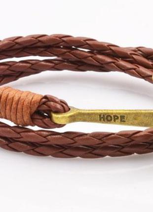 Распродажа бижутерии браслет якорь коричневый