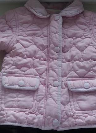 Куртка демисезонная на девочку 1-1,5 года