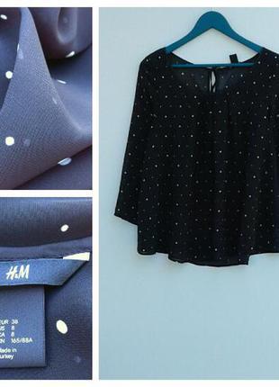 Женская блузка блуза в горох летняя блузка в горох