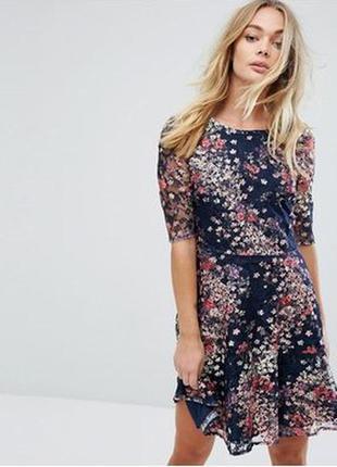 Трикотажное платье цветочный принт oasis р.s на р.44-46 s-m.