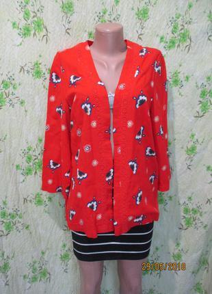 Яркий летний хлопковый кардиган/ пиджак/ накидка хлопок 48-50 размер