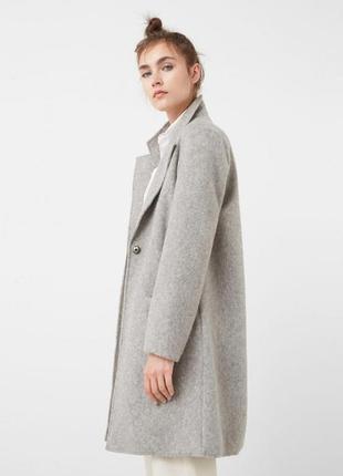 Шерстяное пальто бойфренд.