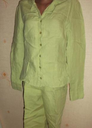 Льняной летний костюм тренд года. р. xs - s - street one