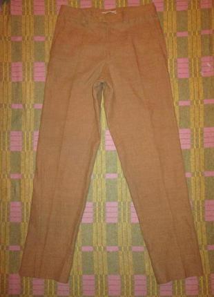 Брюки massimo dutti льняные штаны 100% лен