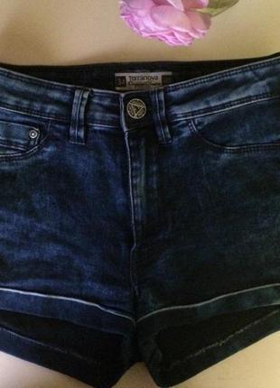 Шорты джинсовые на высокой посадке