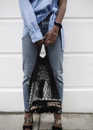 Модная сумка - сетка - мешок-авоська