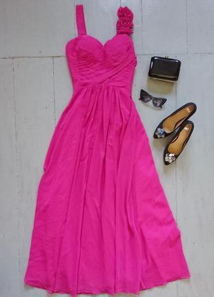 Шикарное вечернее платье фуксия №267