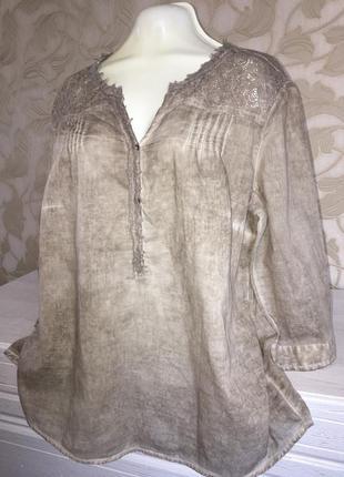 Лёгкая блузка с гипюром