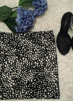 Хлопковая мини юбка h&m