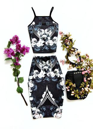 Комплект топ+юбка