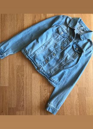 Джинсовая куртка косуха new look