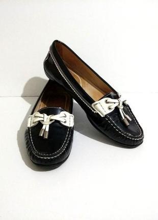 Удобные, классные кожаные итальянские балетки, лакированные  туфли tremp