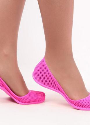 Женские силиконовые балетки, мыльницы коралки, in-ox купить 7 цветов3 фото