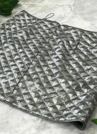 Шикарная юбка расшитая паетками с имитацией объемного принта  ki1822069  next2