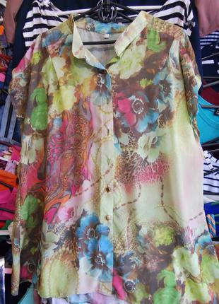 Скидка!шифоновая блуза большие размеры