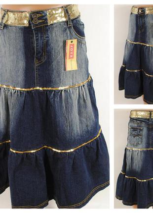 Джинсовая юбка joyx размер 48/50 (l)