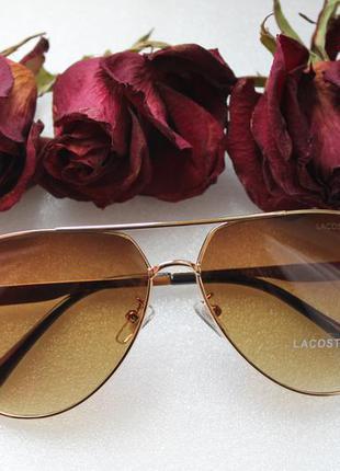 Новые модные солнцезащитные очки, коричневые