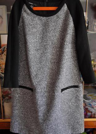 Платье теплое mango xs