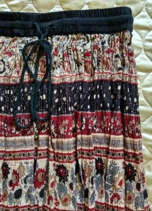 Вискозная длинная юбка