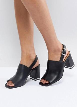 Шикарные классические босоножки на каблуке asos