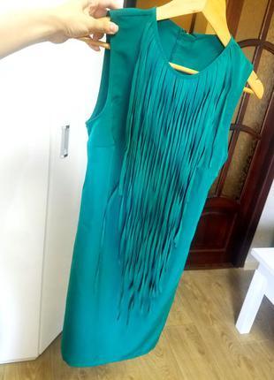 Платье стильное супер цвет морской волны