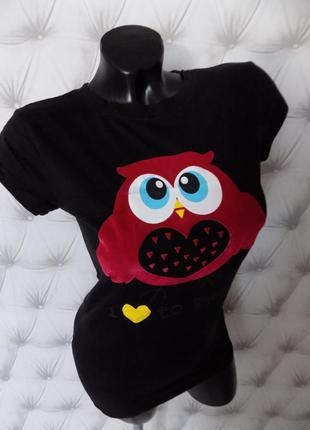 Крутющая футболочка с совушкой