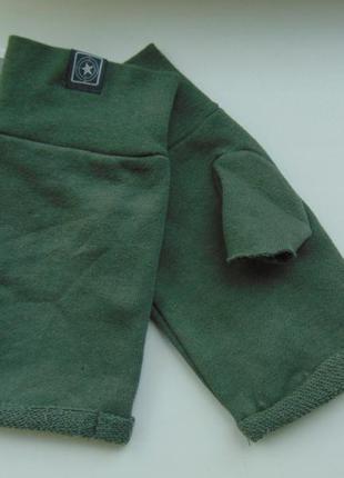 Трикотажные перчатки митенки без пальцев terranova
