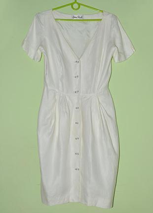 Летнее льняное платье. р.10