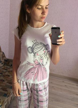 Хлопковая футболка принцесса на подростка